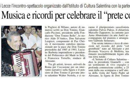 Sabato al Paisiello di Lecce - Don Tonino Bello.