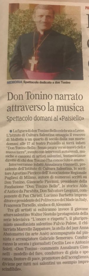 Don Tonino narrato attraverso la musica